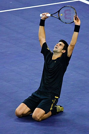 Novak Djokovic during the 2008 Tennis Masters ...