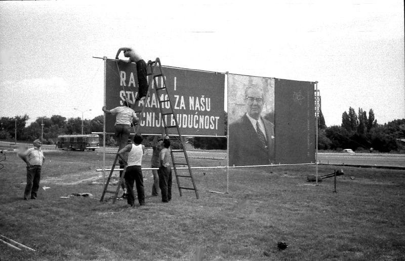 Novi Beograd 1978 (Tito billboard)