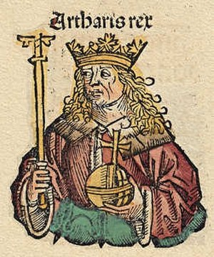 Authari - Woodcut vignette of Authari in the 1493 Nuremberg Chronicle