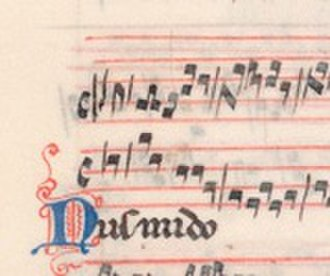 Retrograde (music) - Nusmido, folio 150 verso of manuscript Pluteo 29.1, located in the Laurentian Library in Florence - the earliest known example of retrograde in music