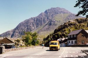 Tryfan - Tryfan seen from Ogwen Cottage on the A5 road