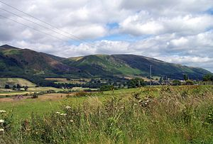 Ochil Hills - Ochil Hills (Wood Hill and Elistoun Hill) viewed from south-west of Tillicoultry