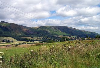 Mountains and hills of Scotland - Ochil Hills (Wood Hill and Elistoun Hill) viewed from South-West of Tillicoultry