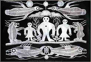 Anishinaabe - Artwork depicting Ojibwe cosmology