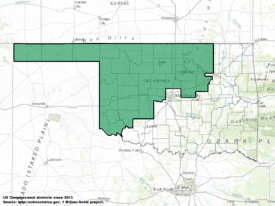 Oklahoma's 3rd congressional district - since January 3, 2013.