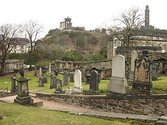 Old Calton Burial Ground - Old Calton Cemetery, looking towards Calton Hill