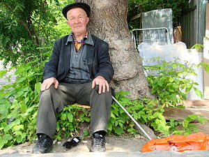 Light skin - Light-skinned old Tatar man in Russia