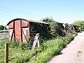 Old goods wagons on Cross Leys Farm, Ilmington - geograph.org.uk - 1884338.jpg