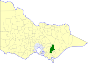 Shire of Narracan - Location in Victoria