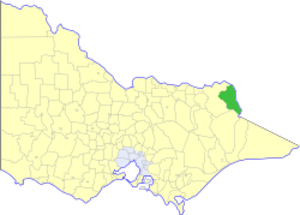 Shire of Upper Murray - Location in Victoria
