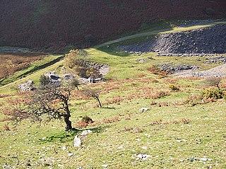 Cwm Ebol quarry Former quarry in Wales