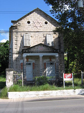 History of the Jews in Barbados - Image: Old synagogue in Belleville, Bridgetown, Barbados