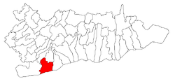 Location of Oltenița within Călăraşi County