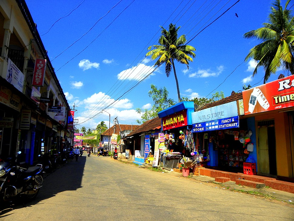 One of the high streets in Paravur