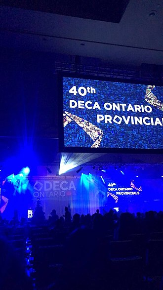 DECA (organization) - Ontario DECA Provincials Award Ceremony prior to commencement on February 9th, 2019