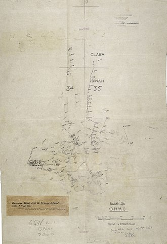SCR-270 - Plot made early on December 7, 1941 by SCR-270 operators at Opana