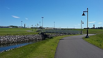 Sydney Tar Ponds - A public park at the former site of the tar ponds, called Open Hearth Park, in 2017