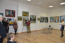 Opening of an exhibition of Leonid Shchemelyov 23.01.2015 02.JPG