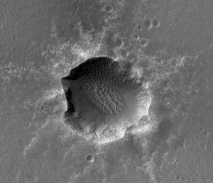 Santa Maria (crater) - Santa Maria crater from orbit, by HiRise