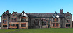 Ordsall Hall, entire south-east facing side of east wing 2009.jpg
