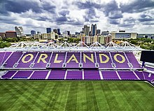 Aerial view of Orlando City Soccer Stadium