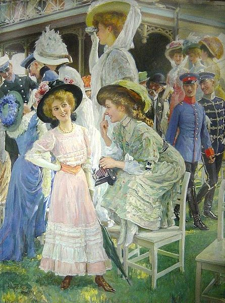 File:Oscar Bluhm Elegant Ladies at the Races.jpg