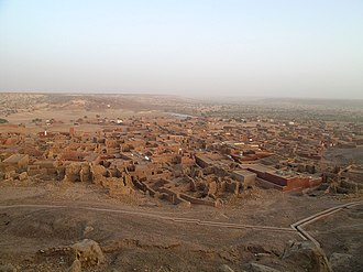 Oualata - View of the town looking in a southeasterly direction