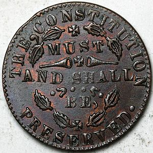 Civil War token - An example of a patriotic token
