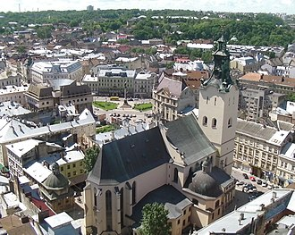 Cathedral Basilica of the Assumption, Lviv - Image: Overlooking Latin Cathedral in Lviv