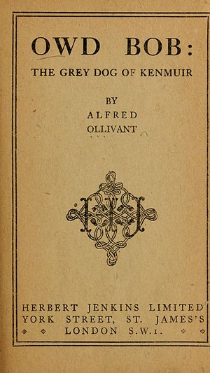 Owd Bob - Title page of the first UK edition (1898)