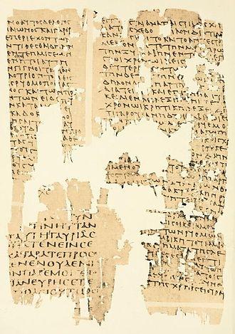 Papyrus Oxyrhynchus 9 - P. Oxy. 9
