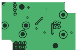 Copper pour area on a PCB filled with copper