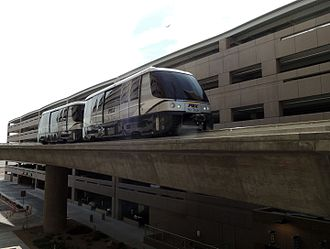 People mover - PHX Sky Train in Phoenix, Arizona, opened in 2013