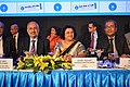 P Pradeep Kumar - Arundhati Bhattacharya - B Sriram - SBI Annual Results Presentation - Kolkata 2015-05-22 0823.JPG