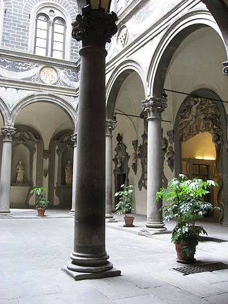 Michelozzo - The courtyard of Palazzo Medici Riccardi.