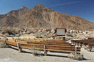Borrego Springs, California - Palm Canyon Campground amphitheater