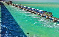 Pamban Bridge Train Passing.jpg
