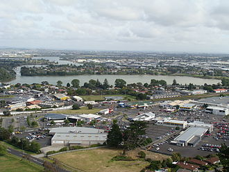 Panmure Basin - View of Panmure Basin from Mount Wellington.