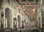 Pannini, Giovanni Paolo - Interior of the San Giovanni in Laterano in Rome - 18th c.jpg