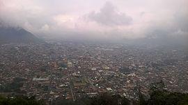 Panorámica de la ciudad desde el cerro del borrego