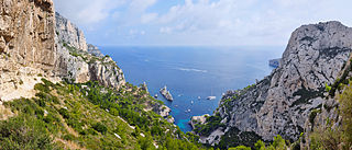 Calanque A narrow, steep-walled inlet on the Mediterranean coast