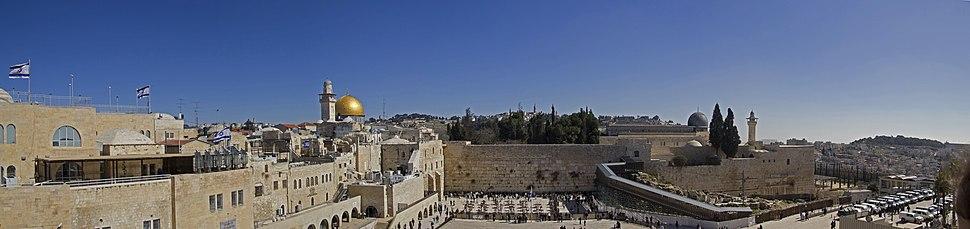 O Muro Ocidental, em Jerusalém, Israel, é o que resta do Segundo Templo.