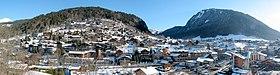 Vue panoramique de la commune de Morzine