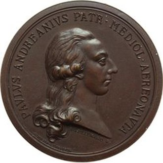 Paolo Andreani - commemorative medal Andreani was the last of the children and they were left without a father in 1772, when they were placed in the care of a guardian.