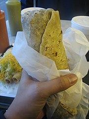 Mexican American burrito