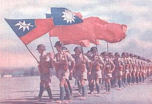 Parade of US equipped Chinese Army in India.jpg
