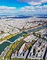 Paris View from the Eiffel Tower third floor Seine upstream Musée du Quai Branly 20171003 (2).jpg