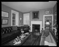 Parlor with fireplace from northeast. - William Carmichael House, 201 East Water Street, Centreville, Queen Anne's County, MD HABS MD-1404-10.tif