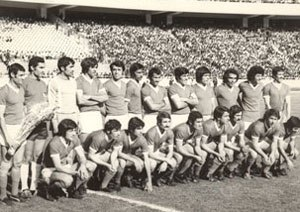 PAS Tehran F.C. - Team players in 1970's before a league match