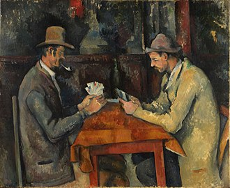 Card game - The Card Players – a painting by Paul Cézanne, 1895.